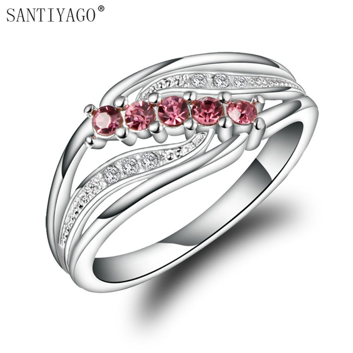 Red Zircon Women Ring