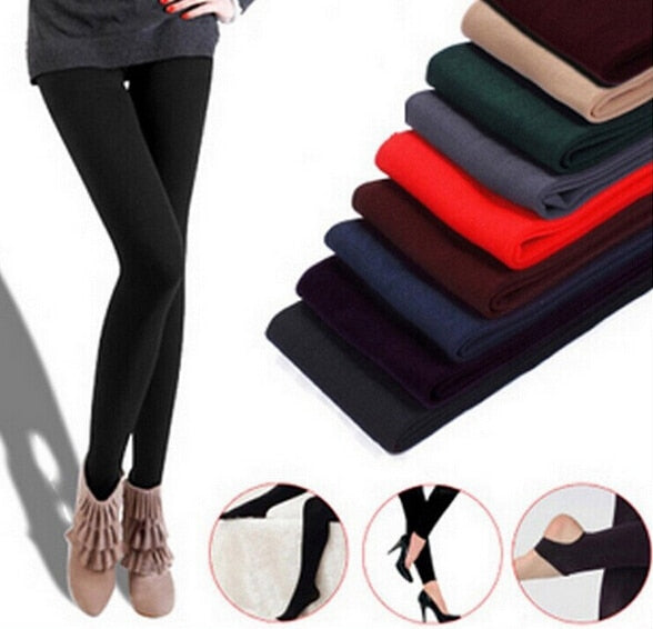 Wholesale 2017 New Leggings For Women Casual Warm Winter Faux Velvet Legging Knitted Thick Slim Leggings Super Elastic Free Ship