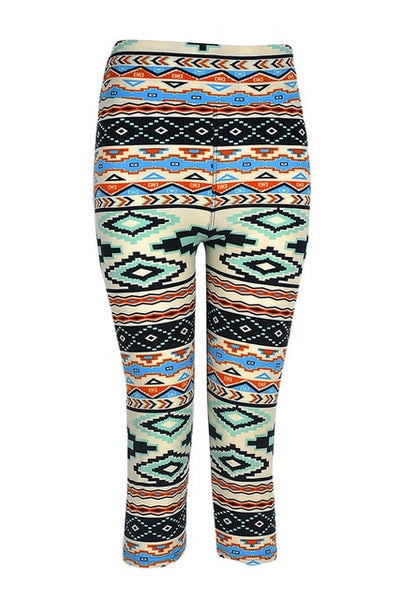New Fashion Women Capri Leggings High Waist Printed Cropped Pants Fitness Workout Casual Trousers leggings