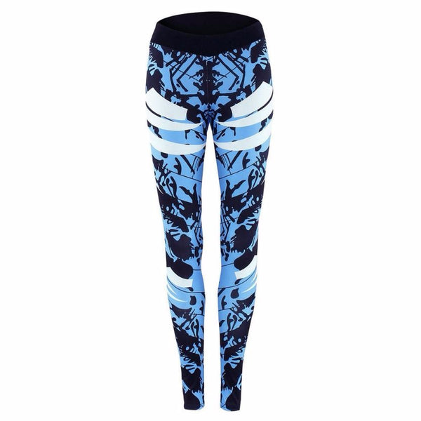 2017  Women Yoga Leggings Sexy Stretch Skinny Print Pants Slim Leggings Sport Yoga Pants #E5