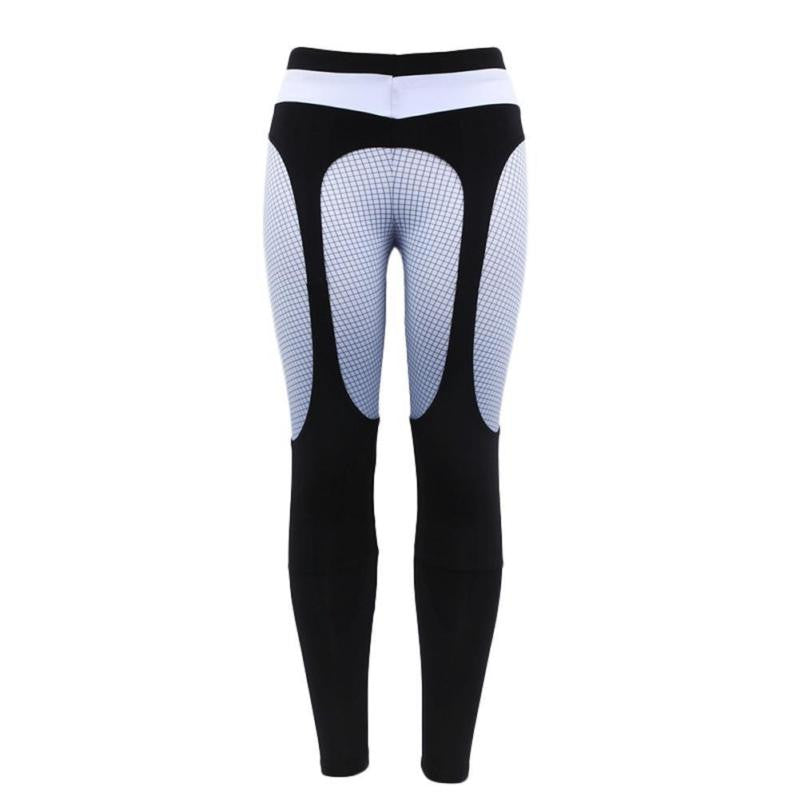 Fashion Leggings Womens Sexy Patchwork Fitness Legging Slim Black Punk Rock Elastic Bandage Femme Workout Pants