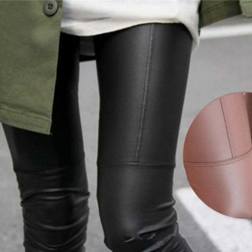 Women Spring Autumn Soft PU Leather Trousers High Waist Leggings Slim Pants Streetwear Stretch Pants Pantalon Femme Plus Size