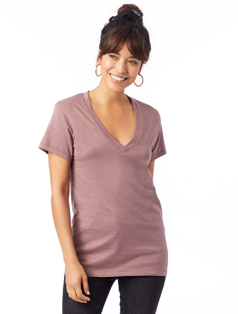 Slub So Low V-Neck Tee