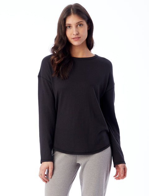 Dropped Shoulder Knit Pullover