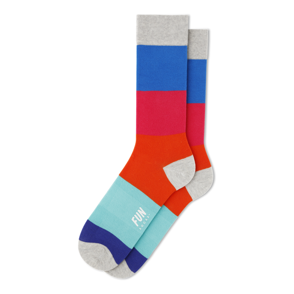 Color Block Crew Socks