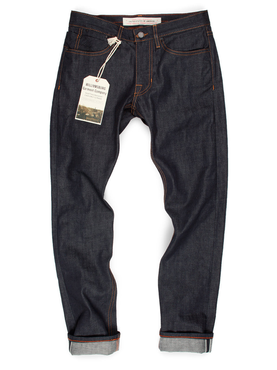 Made In USA Raw Selvedge Jeans Slim - Grand Street