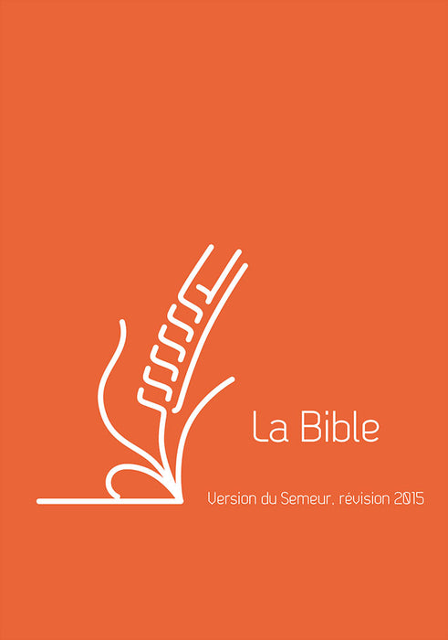 Bible du Semeur 2015 - lin orange, tranche blanche