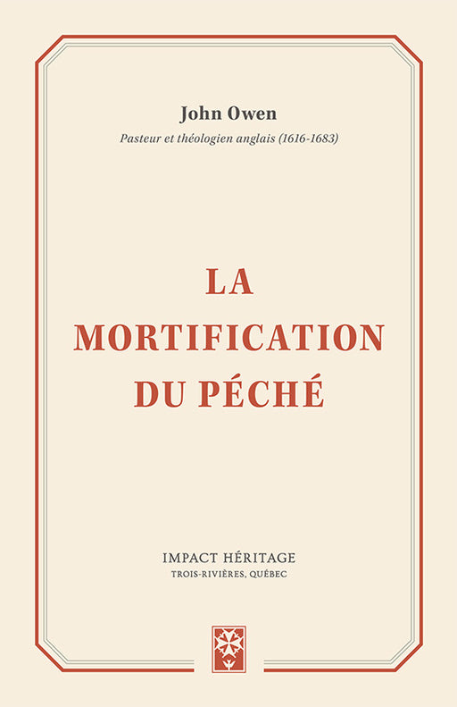 La mortification du péché