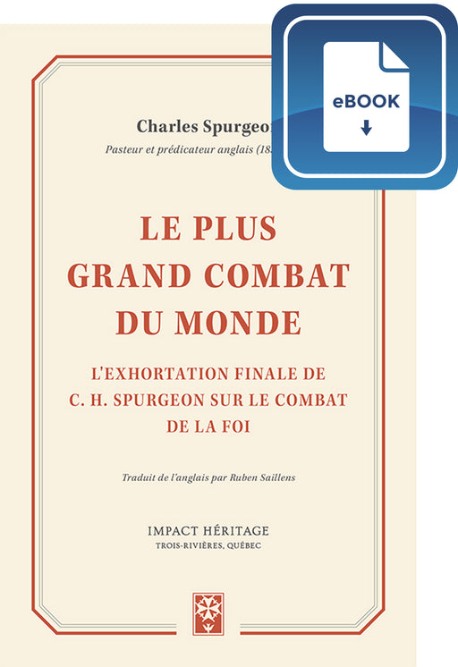 Le plus grand combat du monde (eBook)
