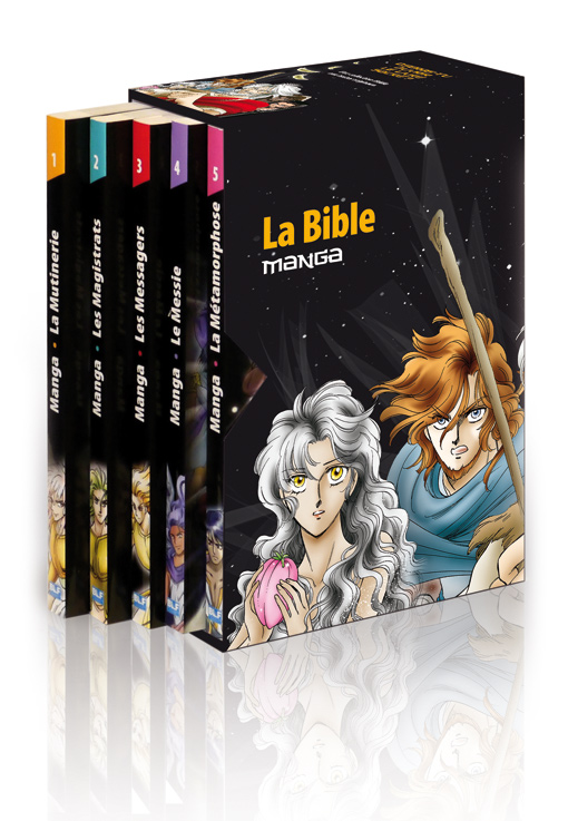 Le coffret collection La Bible Manga (5 volumes)