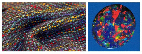 Black Opal, Handwoven fabric
