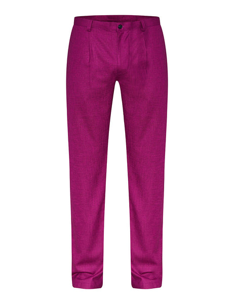Bougainvillea Linen & Silk Trousers
