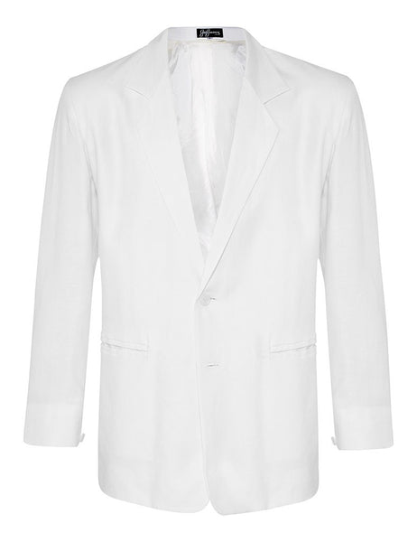 White Linen & Silk Jacket