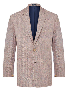 Pink Granite Raw Silk Jacket
