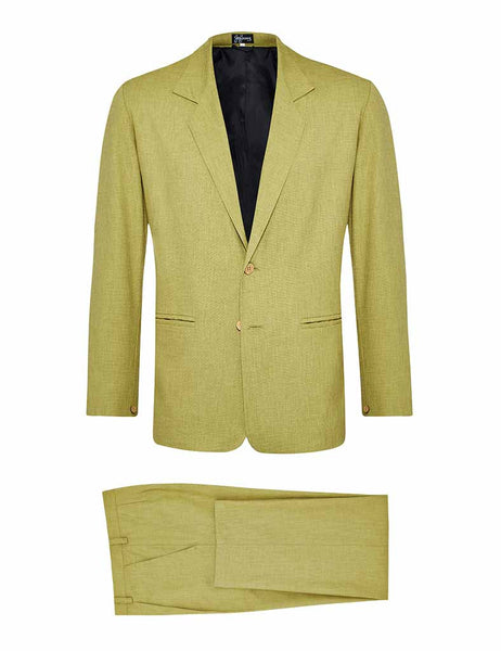 Pistachio Non Crush Linen Suit