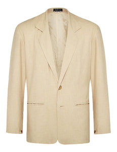 Oatmeal Non Crush Linen Suit
