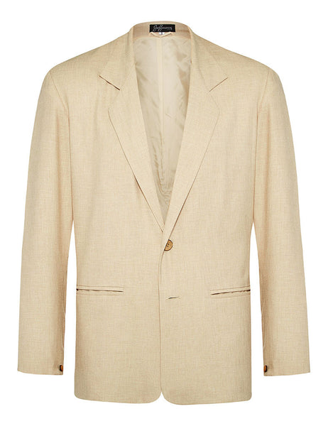 Oatmeal Linen & Silk Jacket