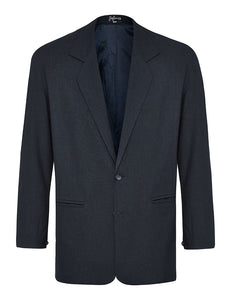 Navy Non Crush Linen Jacket