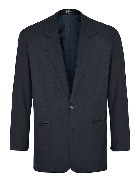 Navy Linen & Silk Jacket