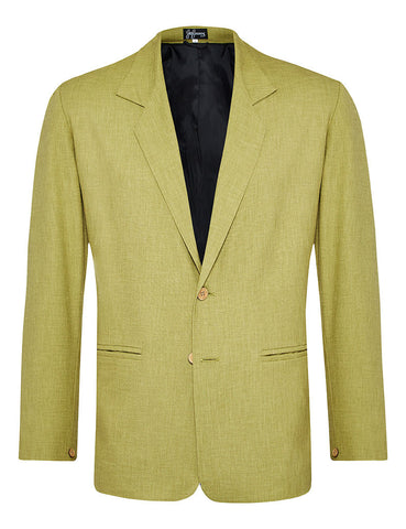 Pistachio Non Crush Linen Jacket