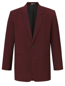 Burgundy Silk Crepe Jacket