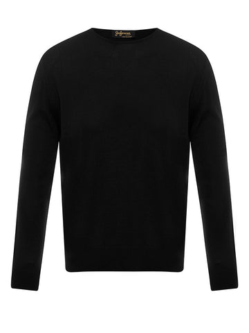 Golden Fibre Black Crew Neck
