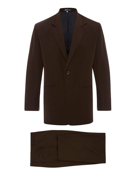 Chocolate Silk Crepe Suit