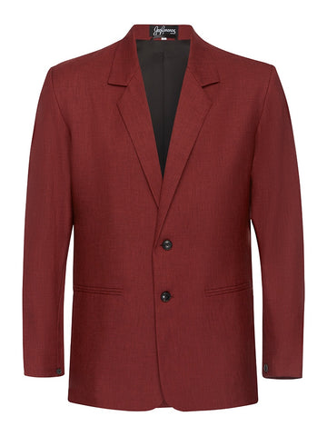 Ox Blood Non Crush Linen Jacket