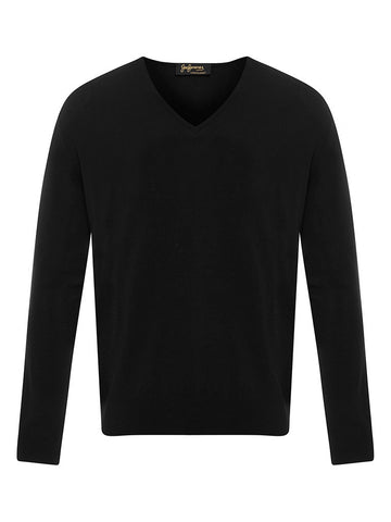 Golden Fibre Black V Neck