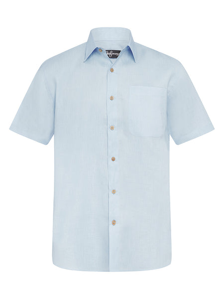 Cool Blue Linen S/S Shirt