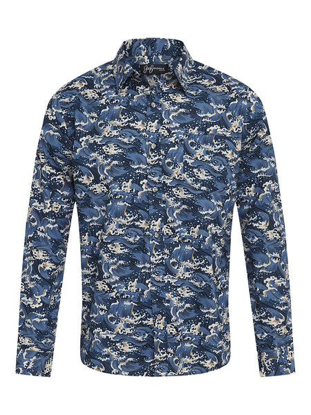 Hokusai Cotton L/S Shirt
