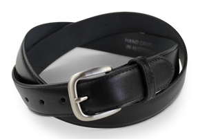 Black Top End Water Buffalo Hide Belt