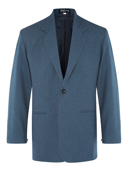 Blue Denim Linen & Silk Jacket