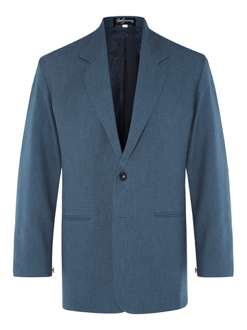 Blue Denim Non Crush Linen Jacket