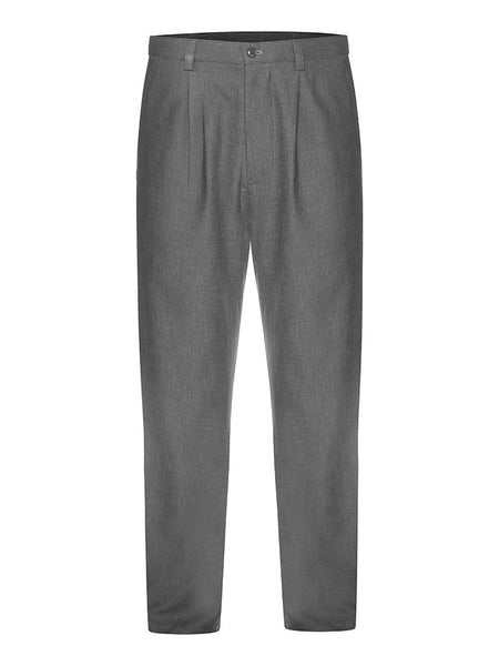 Charcoal Linen & Silk Suit Trousers