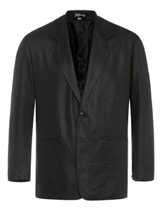 Black Twill Linen Jacket