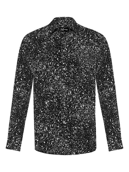 Splatter Vector Cotton & Silk L/S Shirt