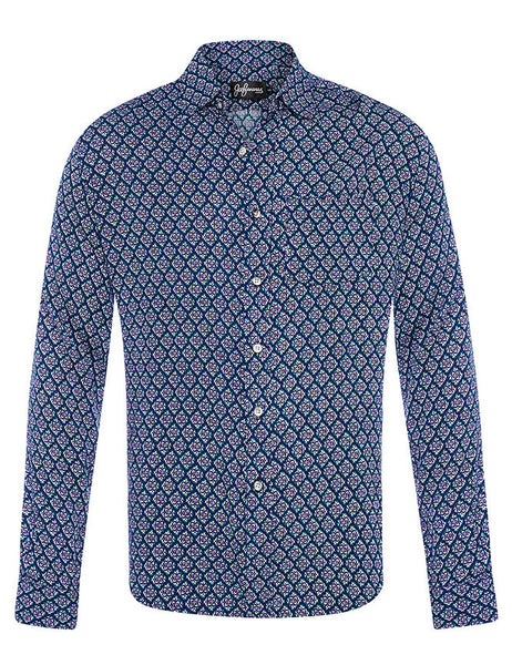 Tessellate Cotton & Silk L/S Shirt
