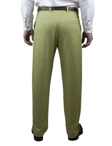 Pistachio Non Crush Linen Trousers