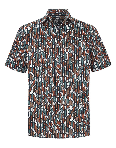Madison Mosaic cotton S/S Shirt