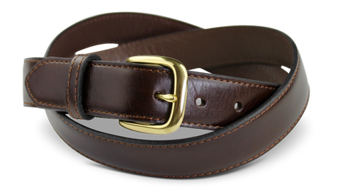 Mahogany Top End Water Buffalo Hide Belt