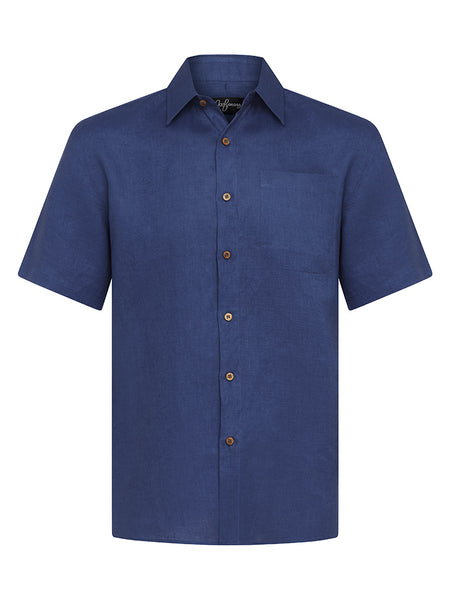 Twilight Blue Linen S/S Shirt