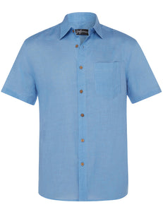 'Allure' short-sleeve linen shirt - Joe Bananas