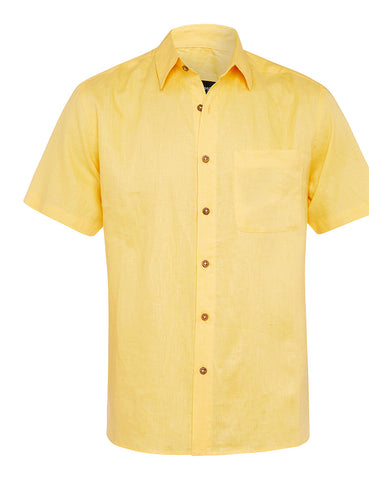 Banana Cream Linen S/S Shirt