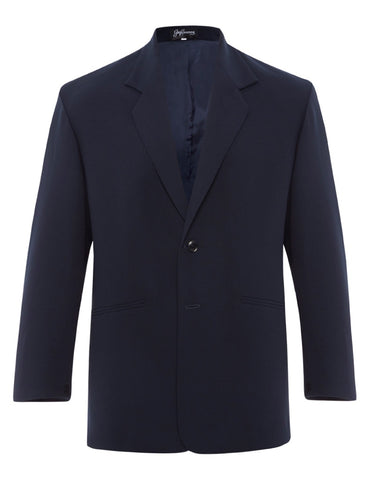 Navy Silk Crepe Jacket