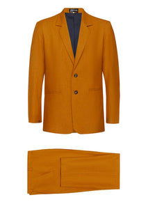 Ochre Non Crush Linen Suit