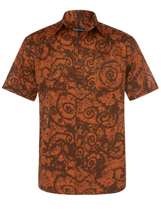 'Guru Batik' short-sleeve linen shirt - Joe Bananas