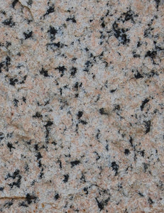 Pink granite stone cut, close-up