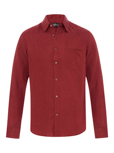 'Vino' long-sleeve linen shirt - Joe Bananas