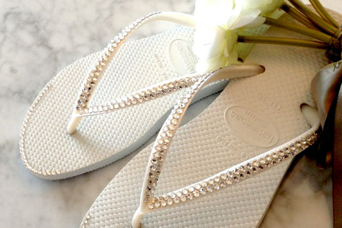 Wedding Havaianas Flip Flop with Swarovski Crystals